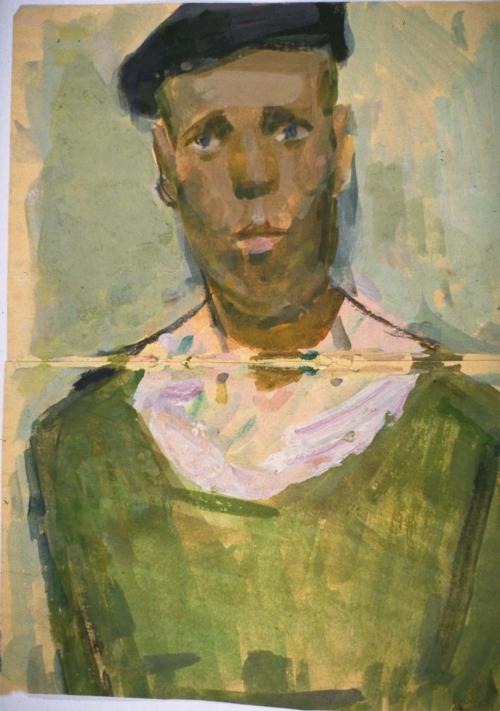 Рабочий в кепке.  Нижний Тагил, 1958