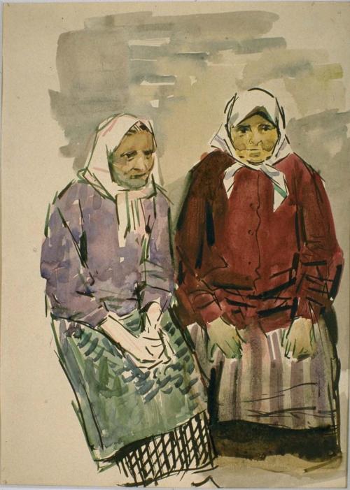 Две старушки. 1956