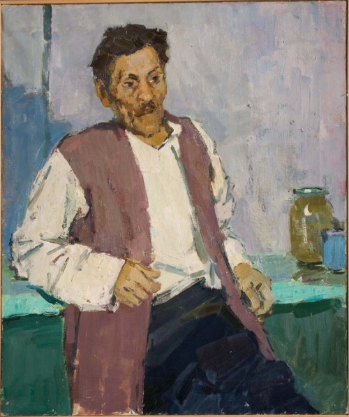 Portrait of a Man in Brown Vest, 1958