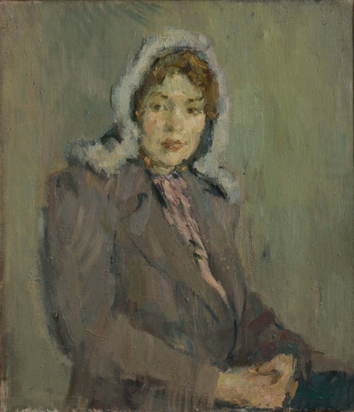Young Woman in a Downy Shawl, Leningrad, 1947