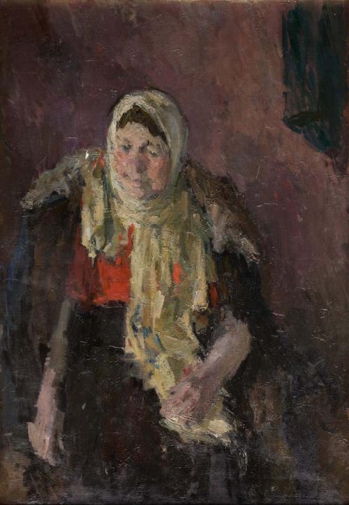 Old Woman in Woolen Scarf, 1940-50