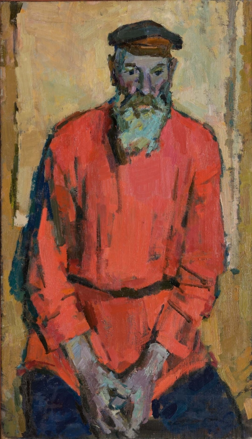 Old Man in Red Shirt, Old Miner, 1958