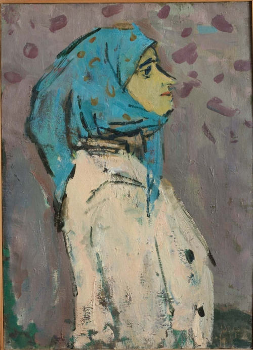 Woman in Blue Head Scarf, 1959