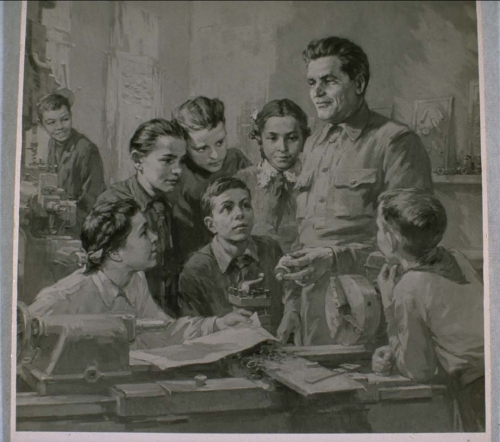 Kirov and Children, Trilogy Leaders and Children, 1955